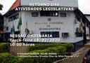COMUNICADO - RETORNO DAS ATIVIDADES LEGISLATIVAS