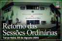 RETORNO DO RECESSO - 03/08 (TERÇA-FEIRA) 10H